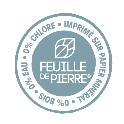 label feuille de pierre